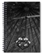 Castle Farms Silo Black And White Spiral Notebook