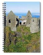 Castle On A Cliff, Dunluce Castle Spiral Notebook