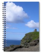 Castle On The Cliffs Of Moher Spiral Notebook