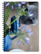 Cat And Flowers Spiral Notebook