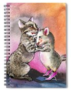 Cat And Mouse Reunited Spiral Notebook