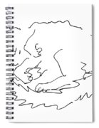 Cat-drawings-black-white-1 Spiral Notebook