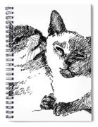 Cat-drawings-siamese-2 Spiral Notebook
