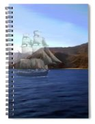 Catalina Shoreline Ghost Ship Spiral Notebook