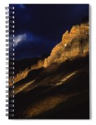 Cathedral Crags At Dusk, Yoho National Spiral Notebook