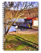 Catoctin Lake Boathouse Spiral Notebook