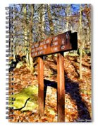Catoctin Trail Sign Spiral Notebook