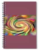 Cat's Tail In Motion. Stained Glass Effect. Spiral Notebook