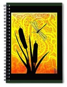 Cattails And Dragonfly Spiral Notebook