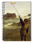 Caught By The Tide Spiral Notebook