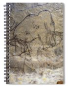 Cave Art - Mammoth And Ibexes Spiral Notebook