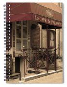 Cave Du Paradoxe Wine Shop In Beaune France Spiral Notebook