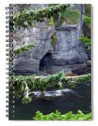 Cave Of The Bay Spiral Notebook