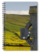 Celtic Cross In A Cemetery Spiral Notebook