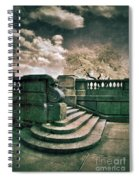 Cement Steps By A City Park Spiral Notebook