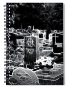 Cemetary At Night Spiral Notebook