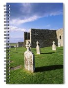 Cemetery In Front Of A Monastery Spiral Notebook