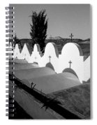 Cemetery Spain Three Spiral Notebook