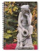 Cemetery Statue 1 Spiral Notebook