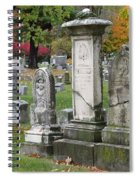 Cemtery Cracked Tombstones Spiral Notebook