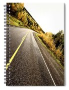Center Lines Along A Paved Road In Autumn Spiral Notebook