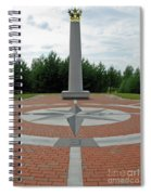 Center Of Europe. Lithuania Spiral Notebook