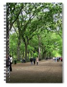 Central Park Arbor Walk Spring Spiral Notebook