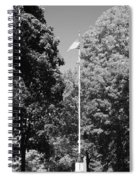 Central Park Flag In Black And White Spiral Notebook