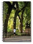 Central Park Jogging Spiral Notebook