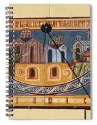 Ceramic Sundial Spiral Notebook