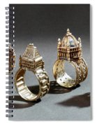 Ceremonial Marriage Rings Spiral Notebook