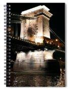 Chain Bridge At Night Spiral Notebook