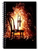 Chair And Horn With Fireworks Spiral Notebook