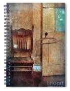 Chair By Open Door Spiral Notebook