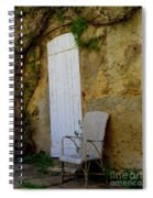 Chair By The White Door Spiral Notebook