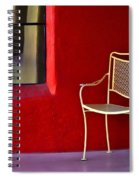 Chair On The Balcony Spiral Notebook