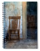 Chairs In Rundown House Spiral Notebook