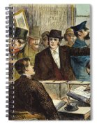 Challenging A Voter, 1872 Spiral Notebook