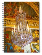 Chandelier At Versailles Spiral Notebook