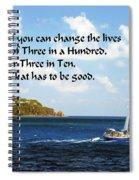 Change A Life Spiral Notebook