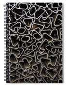 Chaos Of Stacked Metal Fencing Spiral Notebook