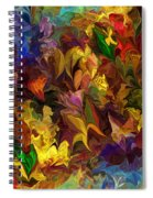 Chaotic Canvas Spiral Notebook
