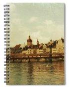 Chapel Bridge Lucerne Switzerland Spiral Notebook