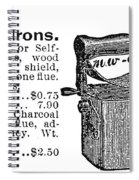Charcoal Iron, 1895 Spiral Notebook