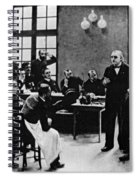 Charcot Demonstrating Hysterical Case Spiral Notebook