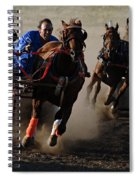 Rodeo Chariot Race Spiral Notebook
