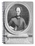 Charles Xii Of Sweden Spiral Notebook