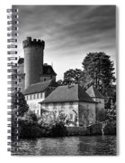 Chateau On The Lake At Annecy Spiral Notebook
