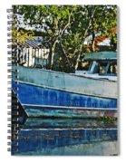 Chauvin La Blue Bayou Boat Spiral Notebook