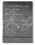 Cheap Advertising In N Y C In Black And White Spiral Notebook